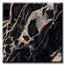 Nero Portoro Marble Slabs & Tiles, Italy Black Marble Polished Flooring Tiles, Walling Tiles