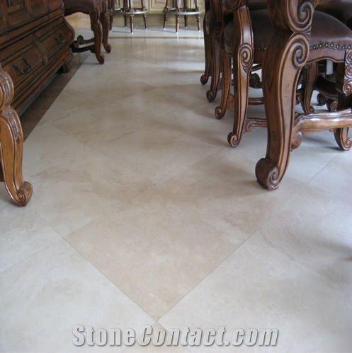 Light Cream Travertine Floor Tile