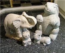 Yellow Granite Garden Landscaping Accessories,Animal Sculpture