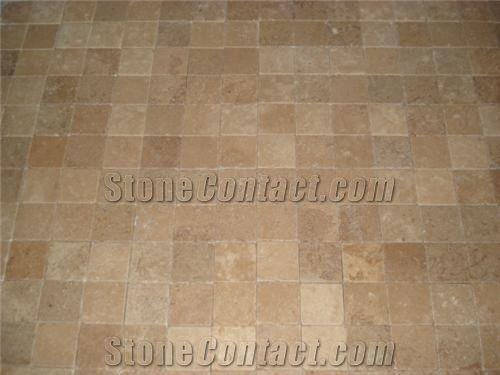 Noche Travertine Floor Tile Turkey Brown Travertine 36440