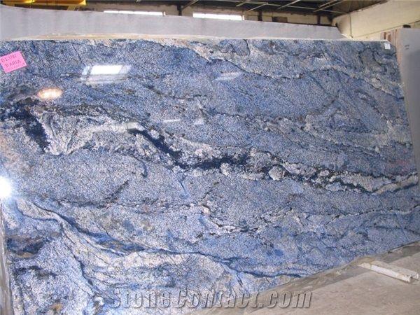 Blue Bahia Granite Slabs From Canada Stonecontact Com
