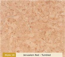 Jerusalem Rose Limestone Tumbled Slabs & Tiles, Israel Pink Limestone