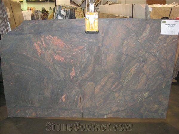 Capolavoro Leather Granite Slabs Brazil Brown Granite