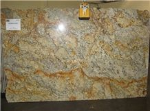 Golden Silver Granite Slabs, Brazil Yellow Granite