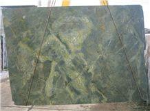 Verde Karzai Polished Granite Slabs, Brazil Green Granite