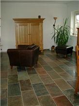 Molten Copper Quartzite Floor Tile