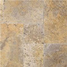 Scabos Versailles Pattern Travertine Tiles