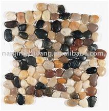 Interlocking Multi Color Mesh Pebble Tile