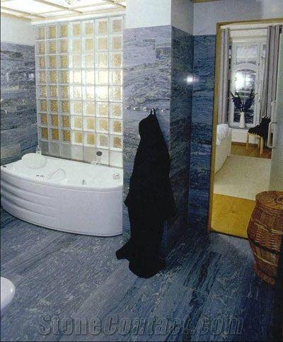 Bla Ekeberg Marble Bathroom Blue Bath Design