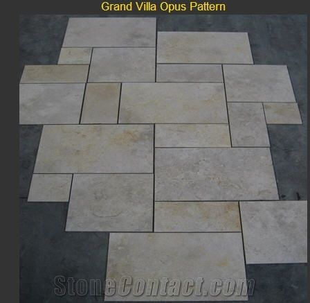 Jerusalem Grey Gold Grand Villa Opus Pattern Limestone