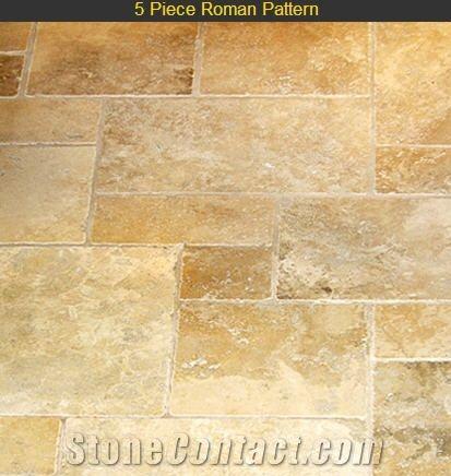 Jerusalem Stone Roman Pattern Limestone Slabs Tiles From