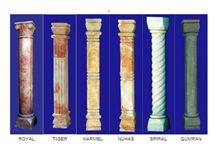 Jerusalem Stone Columns, Pillars, Jerusalem Royal Cream Beige Limestone