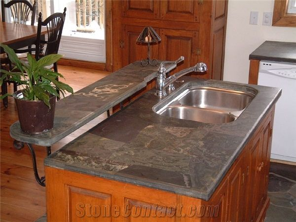 Multicolor Slate Counter Top From Canada Stonecontact Com
