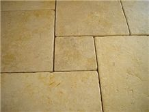 Jerusalem Gold Grey Limestone Pattern Tile