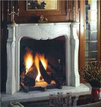 Calacatta Oro Marble Fireplace, White Marble Firep