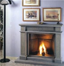 Pietra Serena Gres Fireplaces, Grey Sandstone Fireplace Decorating