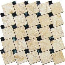 Beige Limestone Mosaic Floor Tile