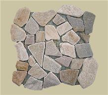 Denizli Yellow Slate Mosaic Pattern