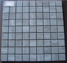 Wooden Grey Marble Mosaic Tile
