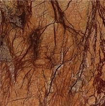Rainforest Brown Marble Slabs & Tiles, India Brown Marble