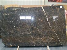 Black Gold Marble Slabs, Pakistan Black Marble