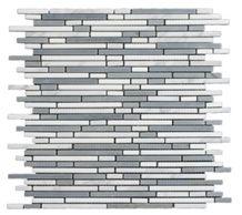 Sikis Argalasti Semi White Grey Marble Mosaic