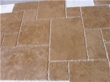 Antique Travertine Pattern Slabs & Tiles, Turkey Yellow Travertine