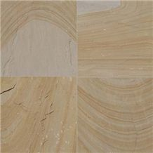 Kota Desert Sandstone Slabs & Tiles, India Beige Sandstone