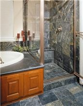 Beleza Grey Soapstone Bathroom Design