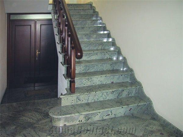 Staircase Made Of Green Eucalyptus