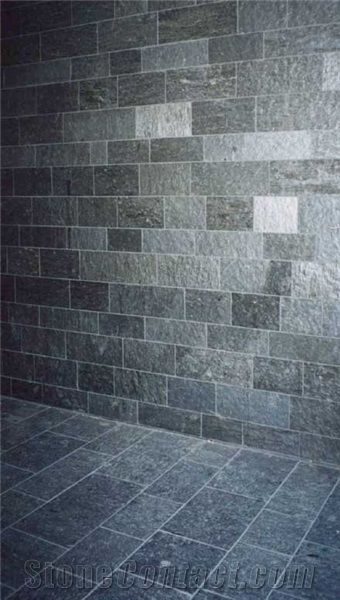 Silver Grey Slate Floor And Wall Tiles From Norway