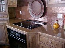 Caesarstone Quartz Kitchen Countertops, Brown Quartz Kitchen Countertops