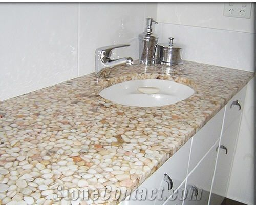 Pebble Mosaic Artificial Stone Vanity Top From Australia