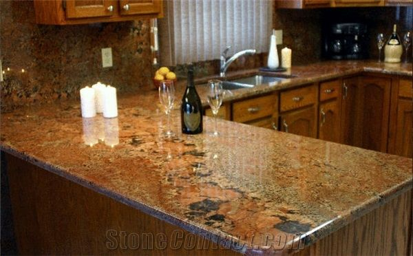 Juparana Bordeaux Granite Countertop From Canada 57558