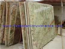Dark Green Onyx Slabs & Tiles, Pakistan Green Onyx