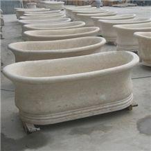 Beige Marble Bathtub