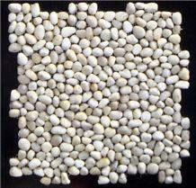 White Pebble Mosaic Tile