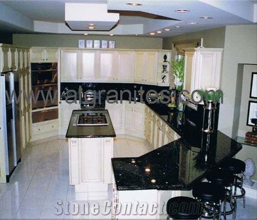 Black Galaxy Kitchen Countertop