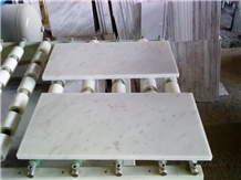 White Volakas Marble Slabs & Tiles, Greece White Marble