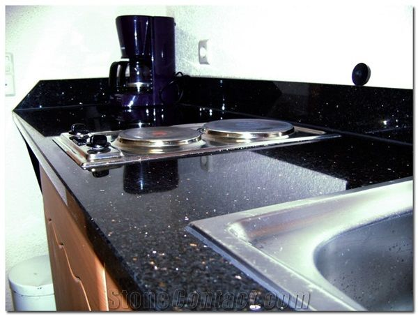 Star Galaxy Granite Countertop From Germany Stonecontact Com