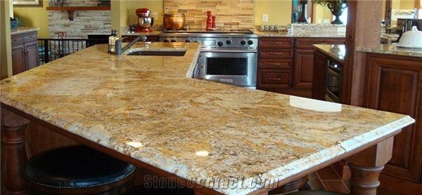Delicieux Golden Crystal Yellow Granite Countertops