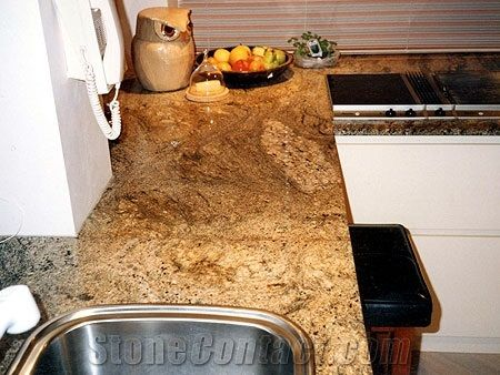 Sunny Gold Yellow Granite Countertops