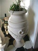 Adria Grigio Unito Beige Limestone Flower Pots