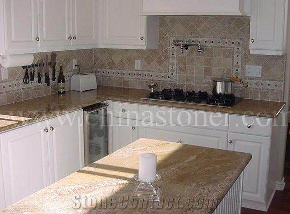 Juparana Casablanca Indian Granite Fabricated Kitchen ...