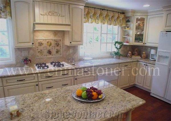 New Giallo Veneziano Granite Kitchen Worktops, New Venetian Gold Brazil Granite  Countertops, Amarelo Ouro Brasil Kitchen Bar Top