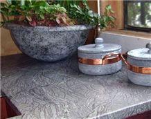 Soapstone Kitchen Countertops, Santa Rita Grey Soapstone