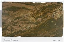 Snake Brown Granite Slabs & Tiles