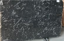 Black Fossil Marble Slabs