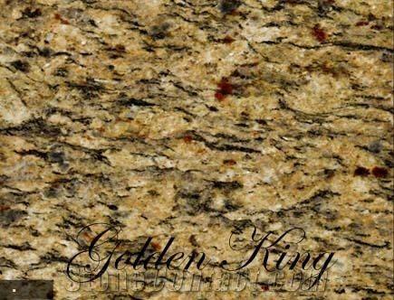 Golden King Granite Slabs Tiles Brazil Yellow Granite