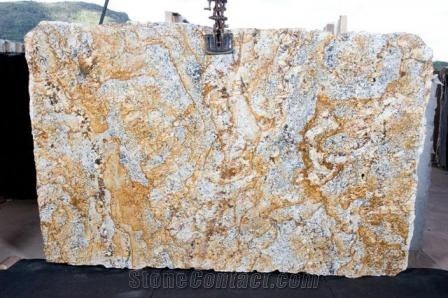 Gold And Silver Granite Slabs From